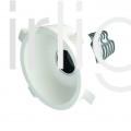 Flairlight IP20 Round Plaster-in 12.4w Tilt Regressed LED Down Light
