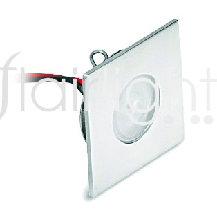 Flairlight IP44 Recessed Shallow Square Fixed LED Light