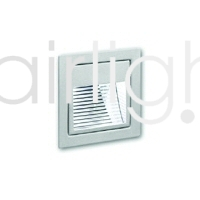 Flairlight Recessed Square Asymmetric Low Level Wall Light