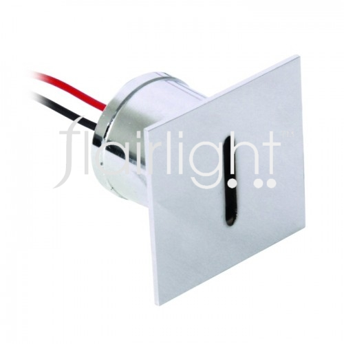 Flairlight IP44 Square LED Wall Light - Nickel