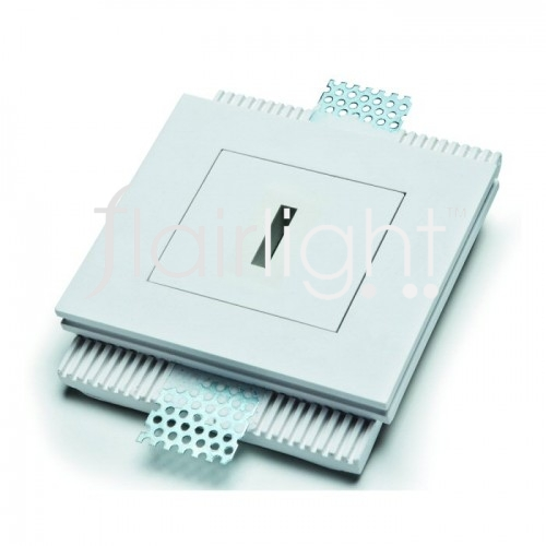 Flairlight IP20 Square Plaster-in LED Down Light - Narrow Slot Optic