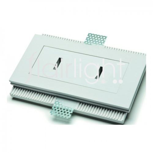 Flairlight IP20 Rectangle Plaster-in LED Down Light - Narrow Slot Optic