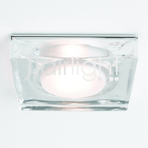 Flairlight IP65 230v Crystal Glass Square Down Light