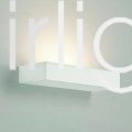 Flairlight IP20 Plaster Mono Emission Wall Light - 1 x 18w