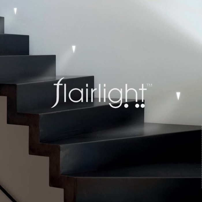 flairlight ip20 low level guidance plaster in led wall light v