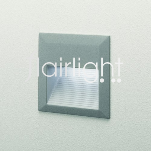 Flairlight IP44 Square LED Wall Light - Silver Grey