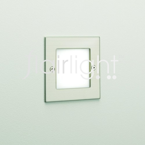 Flairlight IP44 Square LED Wall Light - Stainless Steel