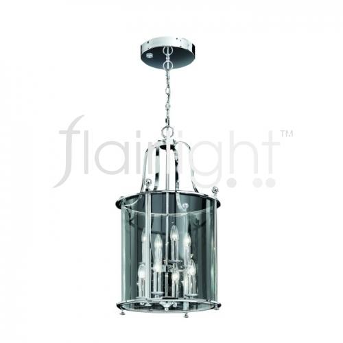 Flairlight IP44 LED Curved Glass Lantern