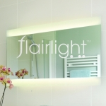 Flairlight IP44 Illuminated Horizontal Mirror