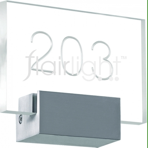 flairlight custom rectangular number light