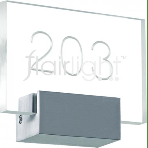 flairlight custom rectangular number light