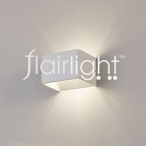 flairlight white textured wall light
