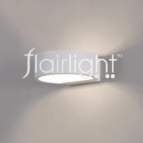 Flairlight LED Metal Semi Wall Light