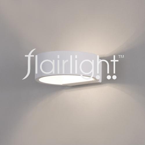 Flairlight LED Metal Semi Wall Light