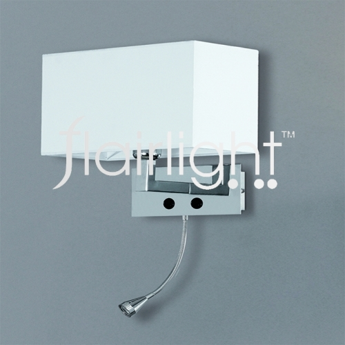 flairlight wall lamp with led reading light