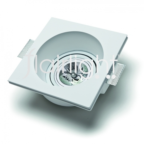 Flairlight 7w IP20 Circular Plaster-in Adjustable LED