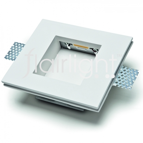 Flairlight IP20 1w Square Plaster-in Light - Square Optic