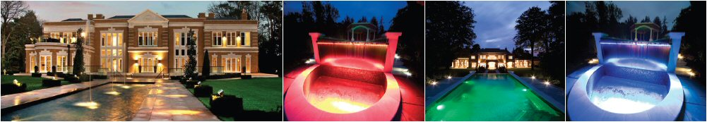 Outdoor feature lighting images