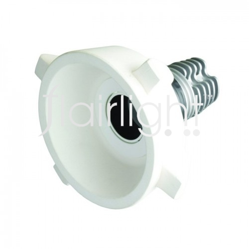 Flairlight IP20 Round Plaster-in 12.4w Tilt Regressed LED Down Light