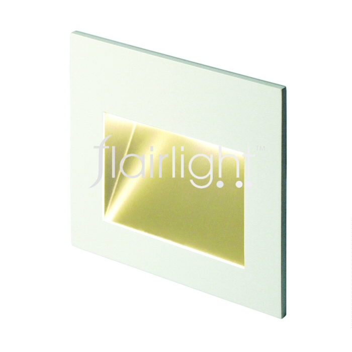 Flairlight IP44 LED Recessed LED Asymmetrical Wall Light