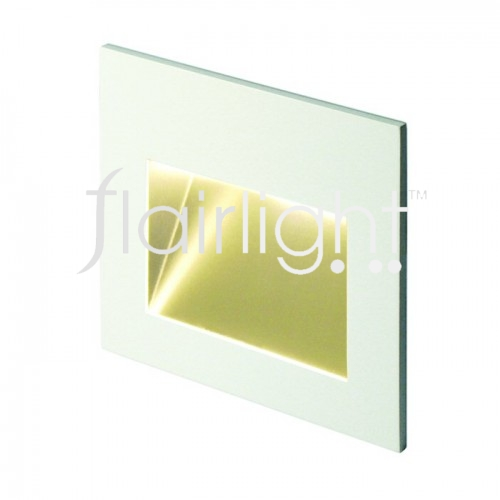 Flairlight IP44 Recessed LED Asymmetrical Wall Light
