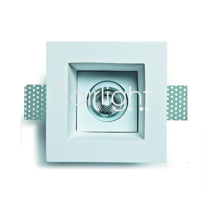 Flairlight IP20 Square Plaster Recessed Adjustable Down Light