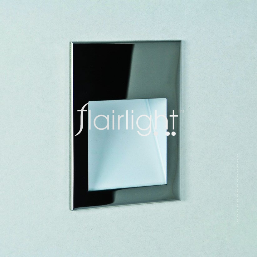 Flairlight IP20 Recessed Square Low Level LED Wall Light