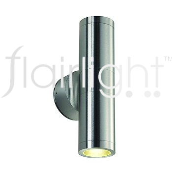 Flairlight IP44 Dual Emission Wall Light - Brushed Aluminium