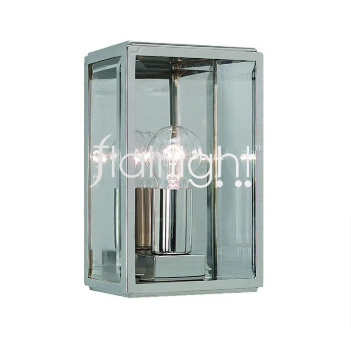 Flairlight IP44 Wall Light - Polished Nickel