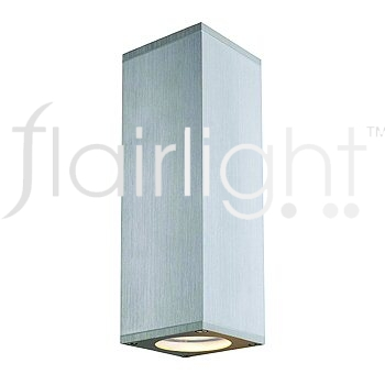 Flairlight IP44 Square Dual Emission Wall Light - Alu-Natural