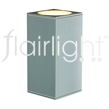 Flairlight IP44 Square Dual Emission Wall Light - Silver Grey