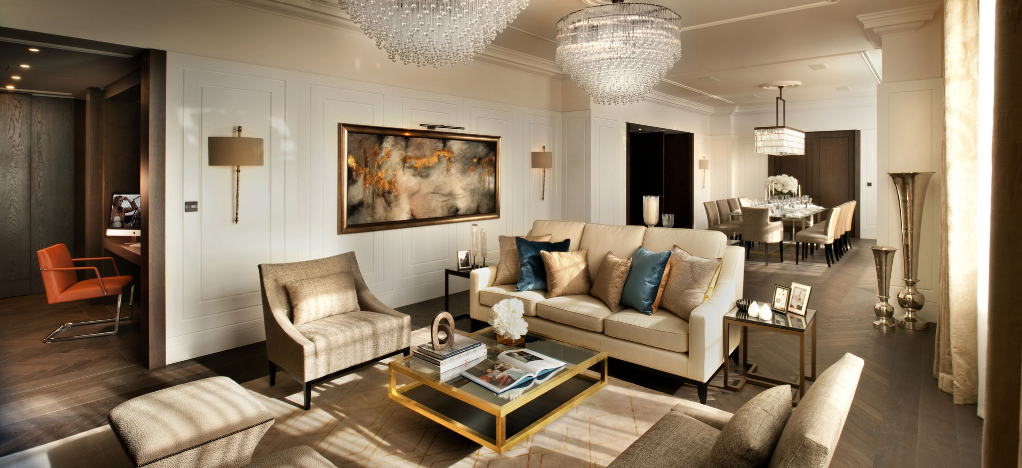 Connaught Place living room with Flairlight designed innovative LED lighting