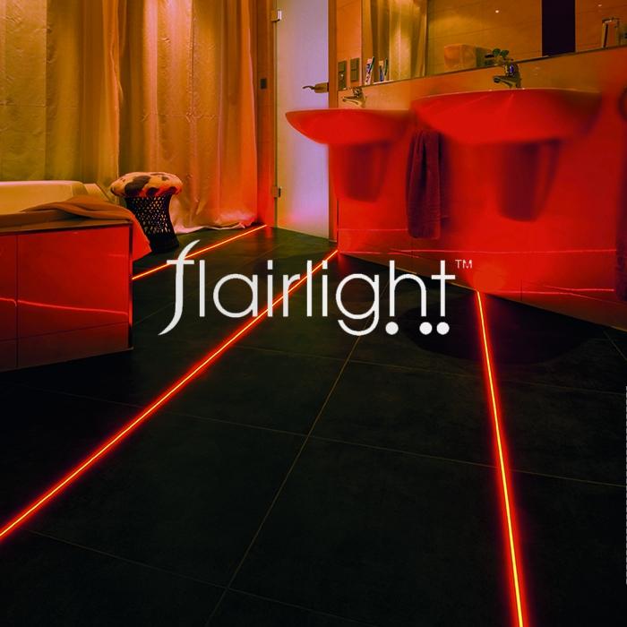 integrated tile line light