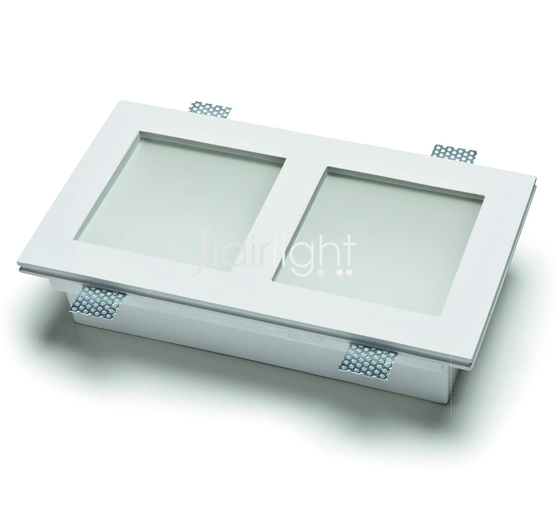 Flairlight 15w IP20 Double Square Plaster-in Luminaire