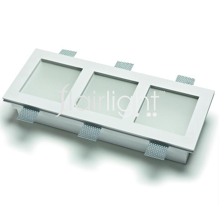 Flairlight 21w IP20 Triple Plaster-in Luminaire