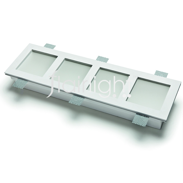 Flairlight 29w IP20 Quadruple Plaster-in Luminaire