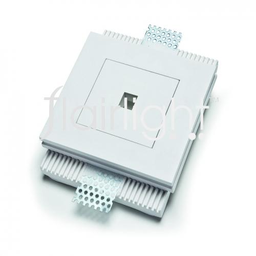 Flairlight 3.3w IP20 Plaster Recessed - Square Optic