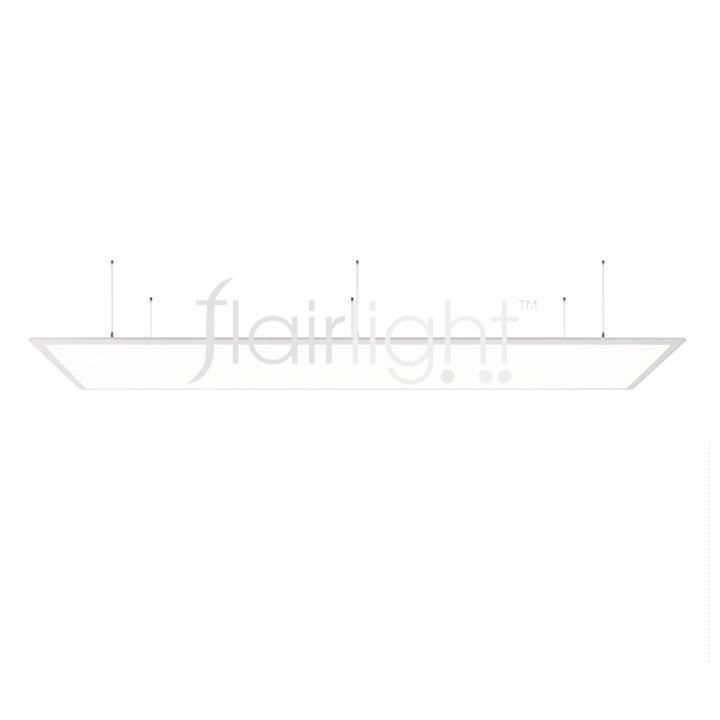 Deko Light Led Panel Pro Suspended 37w 1200 X 300 Pendant Led Panel 3000k Warm White 3460 Lmns Cri Ra 90 Finish White Frame Flairlight